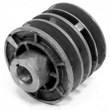 Шкив d 25,4мм ведущий 3-х ручейковый (шпонка 7 мм)тип.Каскад(к имп. двигат.МБ-1)(нормативное наличие раковин)