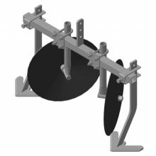 окучник дисковый НЦ.регулируемый на траверсе с плоскими пропольниками без сцепки