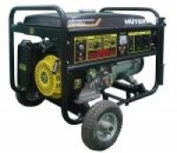 Бензиновый электрогенератор HUTER DY8000LX (6.5 кВт) с колёсами